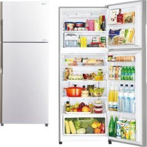 Hitachi RV470PRU3 Λευκό Ψυγείο Δίπορτο
